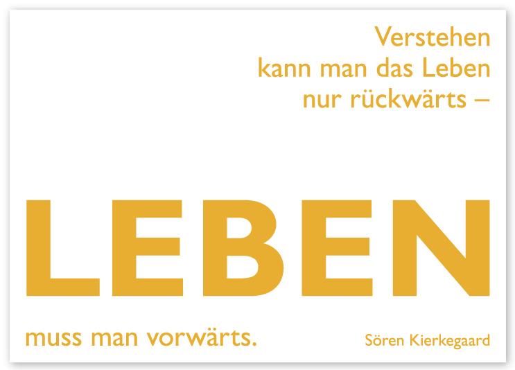 Postkarte Mit Zitat Von Kierkegaard